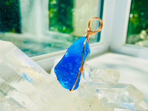 Andaras - Cosmic Blue Ray Pendant <BR> 宇宙藍光 - newearthstore