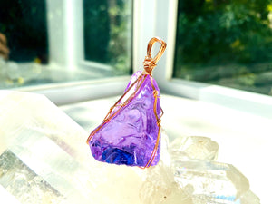 Andaras - New Earth Orchid Heart Pendant with 14KGF Wrapping & Necklace 14 KGF 金色包裹新地球蘭花之心吊墜 - newearthstore