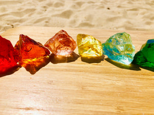Andaras - Rainbow Lightbody Chakra Set 10 Pieces Set 10 <BR> 彩虹光體脈輪水晶啟動 - newearthstore