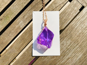 Andaras - New Earth Orchid Heart Pendant with 14KGF Wrapping & Necklace<BR>14 KGF 金色包裹新地球蘭花之心吊墜 - newearthstore