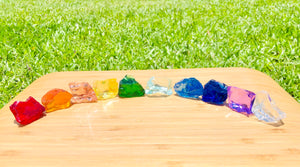 Andaras - Rainbow Lightbody Chakra Set 10 Pieces <BR> 彩虹光體脈輪水晶啟動 207grams - newearthstore