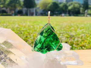 Divine Emerald Gaia Green Activation Pendant <BR> 綠寶石之光 - newearthstore