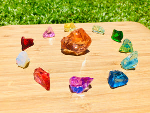 Andaras  - Champagne Lemurian Rainbow Crystalline Lightbody Activation Grid Set <BR>香檳拉姆尼亞彩虹水晶光體啟動組合列陣 140grams - newearthstore