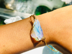 Andara - Opalescent Angelic Bracelet with Sterling 14KFG Wrapping & Bracelet 3 <BR> 天使之光 Andara 金箔線包裹手鍊 3 - newearthstore