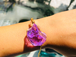 Andara -  New Earth Orchid Heart Bracelet with Sterling 14KFG Wrapping & Bracelet 2 <BR> 新地球蘭花之心14K金箔線包裹手鏈 2 - newearthstore