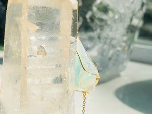 Andara - Opalescent Angelic Bracelet with Sterling 14KFG Wrapping & Bracelet 4 <BR> 天使之光 Andara 金箔線包裹手鍊 4 - newearthstore