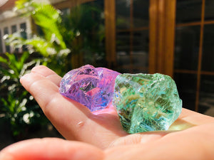 Andaras - Aqua, Higher Heart, Mint Lilac Diamond Activation Set 水鑽、高我之心、薄荷紫丁香鑽石啟動組合 146grams - newearthstore