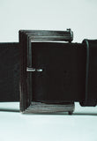 Black and silver belt - Essentials