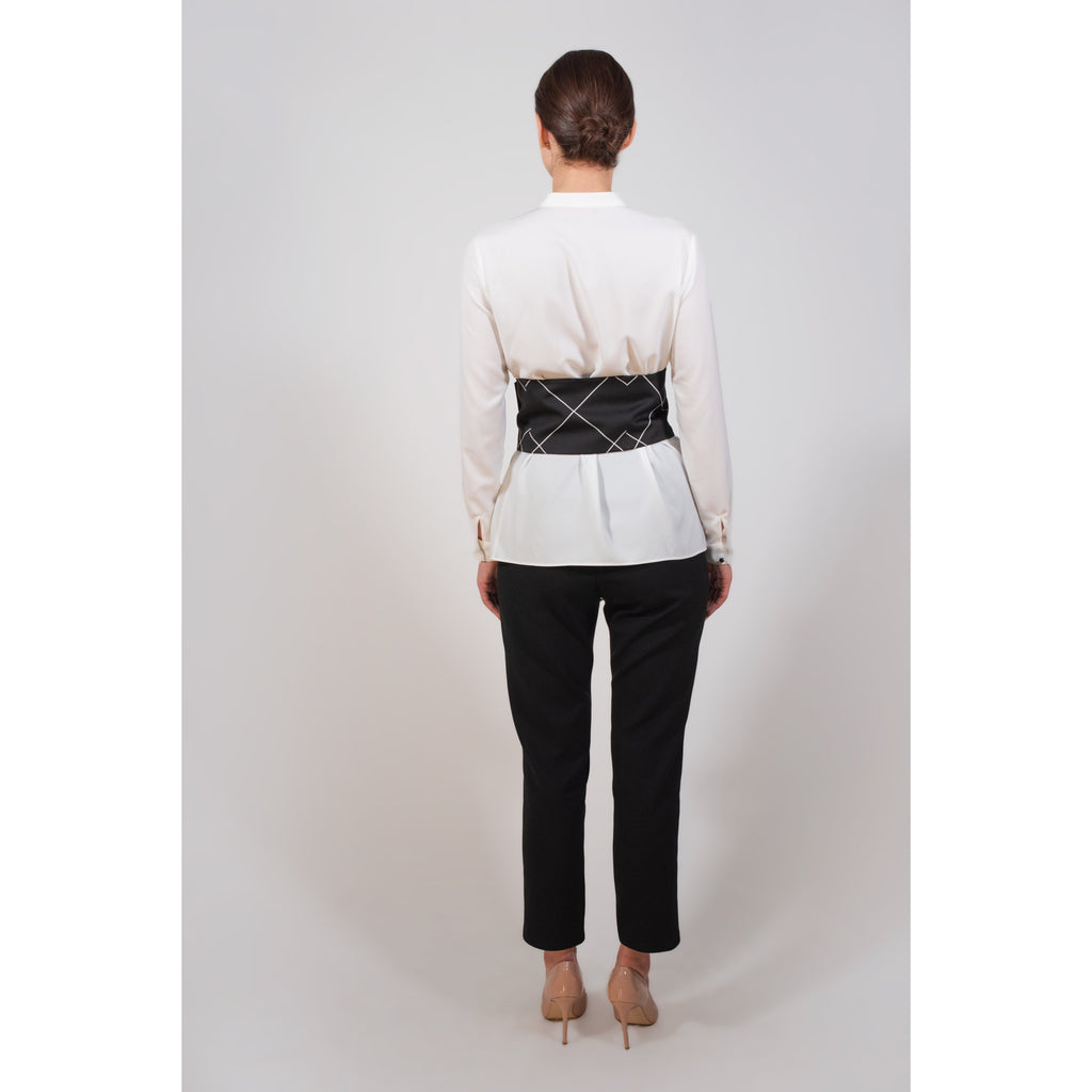 Pearl button waist belt