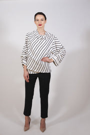 White Striped Top for women