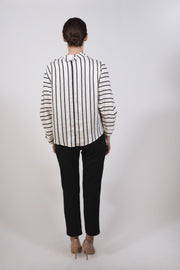 Striped linen blouse