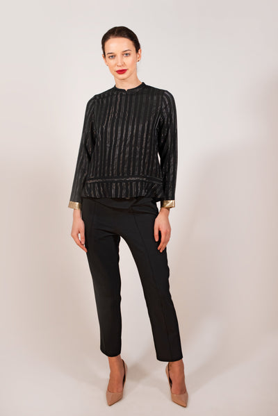 Black Striped Top for women