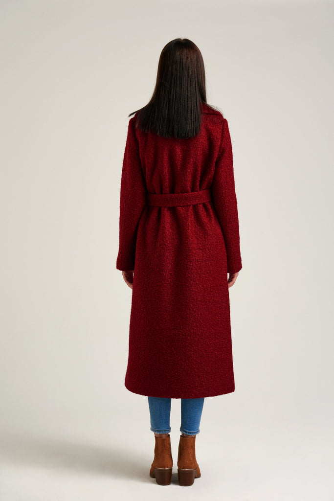 power red - Red trench Coat