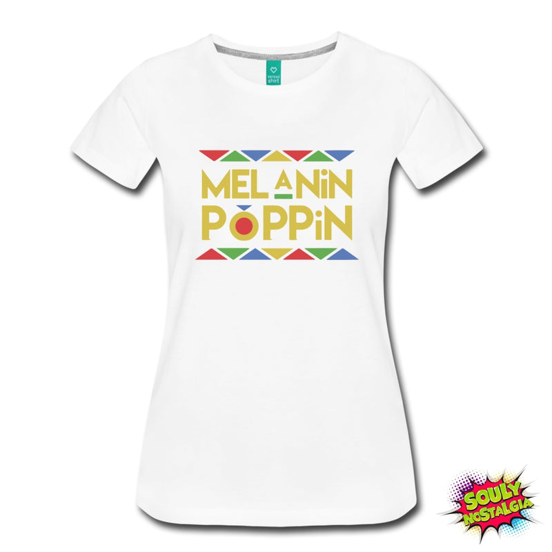 Melanin Poppin T-Shirt Royal Blue / S Womens Premium
