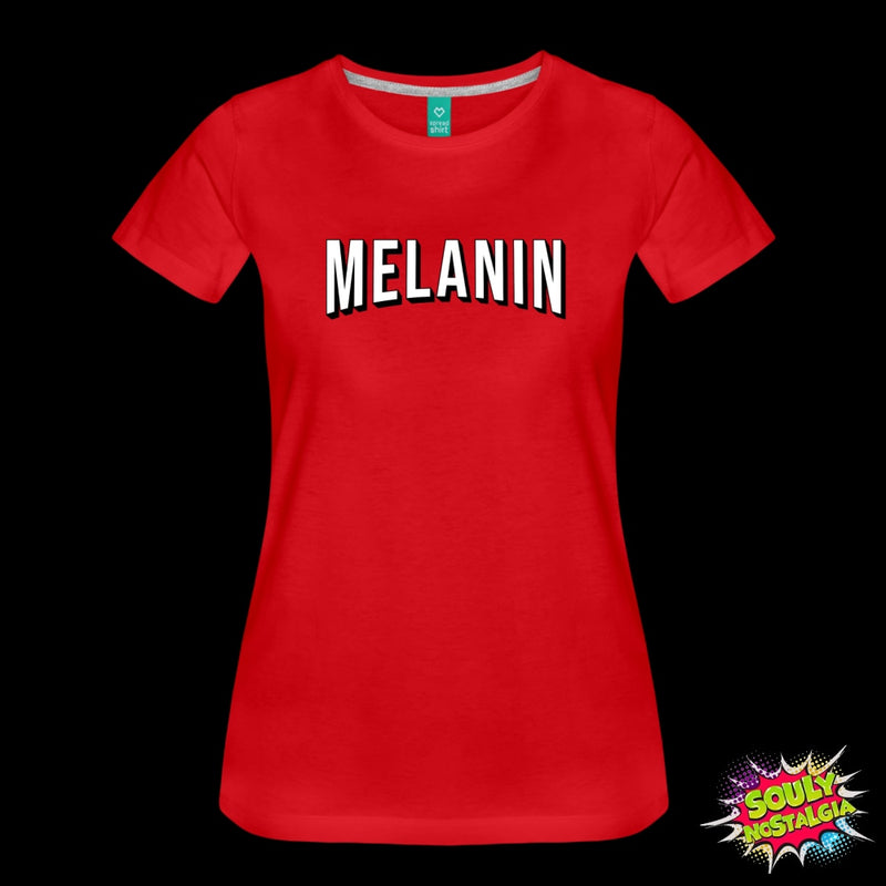 Melanin T-Shirt Red / S Womens Premium