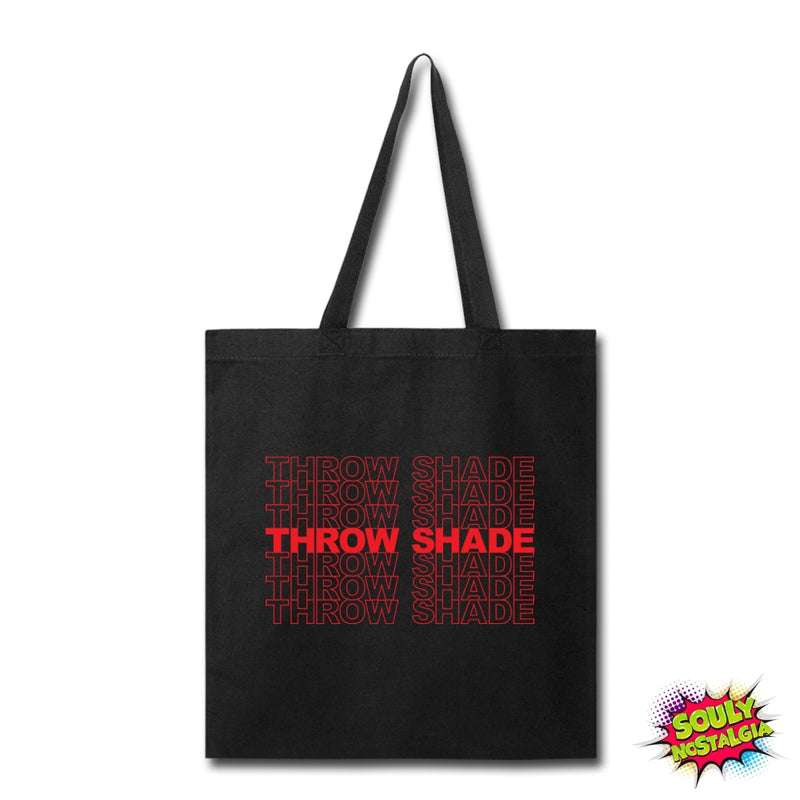 Throw Shade Tote Bag Black