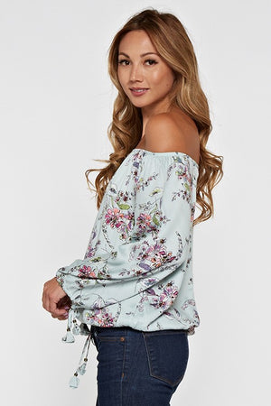 Floral Off The Shoulder Blouse