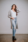 Grey & Ivory Thermal Striped Cardigan