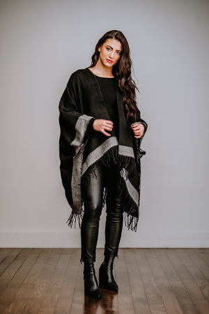 Black & Gray Pocket Shawl
