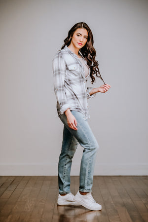 Sage & Light Blue Flannel