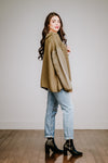 Olive Sweatshirt Sleeve Sweater