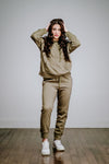 Free People Work It Out Jogger-Army