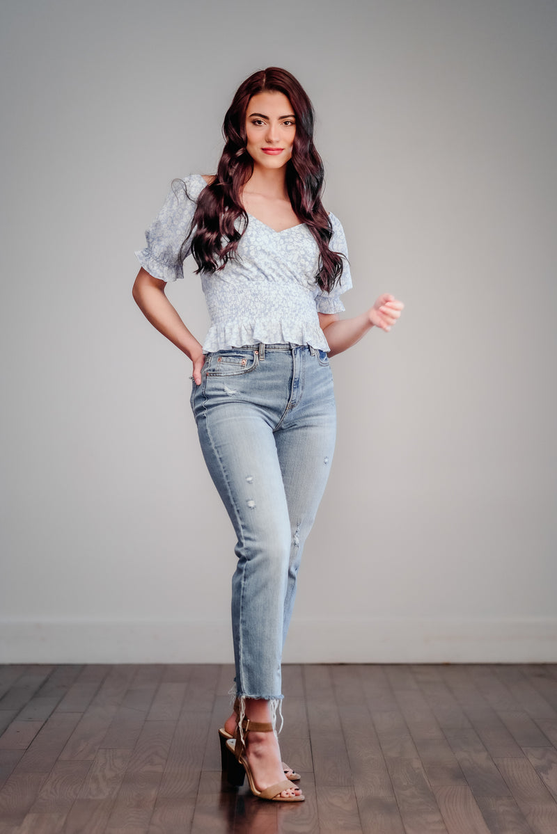 Daze Denim Hi Rise Straight Leg Jeans