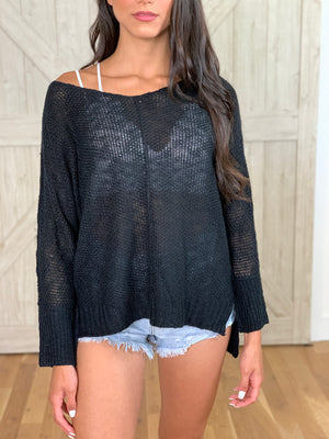 Black High Low Sweater