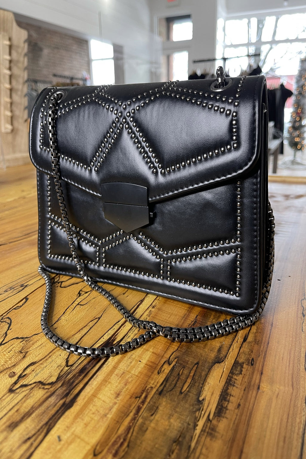 Quilted Stud Mini Chain Bag