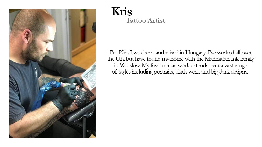 Kris Tattoo Artist Manhattan Ink Bio