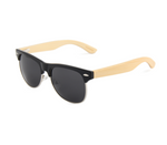 Wooden Sunglasses Low Frame Black
