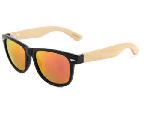 Wooden Sunglasses Red lens