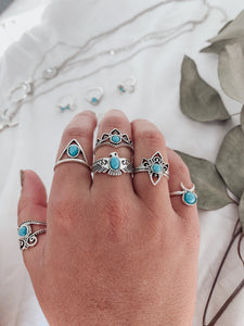 Blue Moon Ring Set
