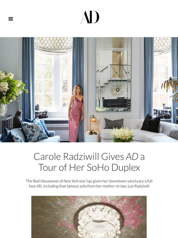 Carole Radziwell Gives AD a Tour of her SoHo Duplex