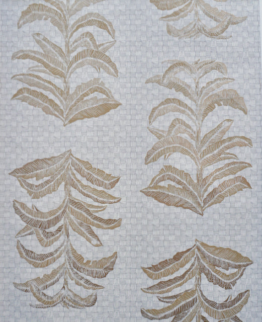 Banana Leaf Wallpaper in French Grey