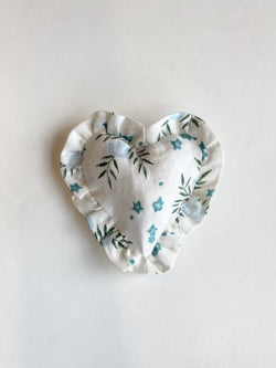 Ruffle Heart Lavender Sachet Pomegranate Blueberry