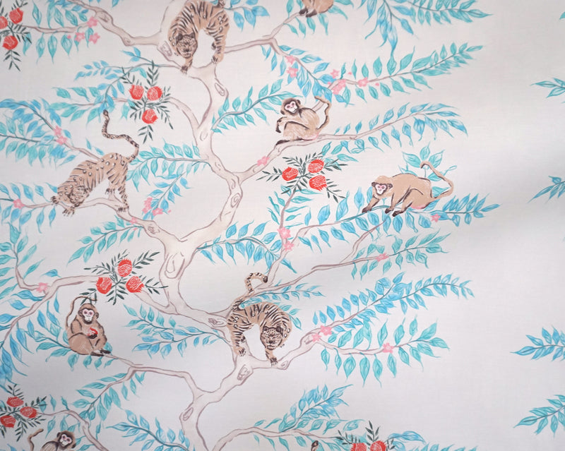 Monkey and Tiger Wallpaper in Day