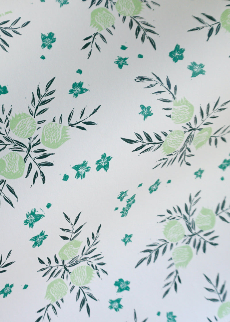 Pomegranate Wallpaper in Celery