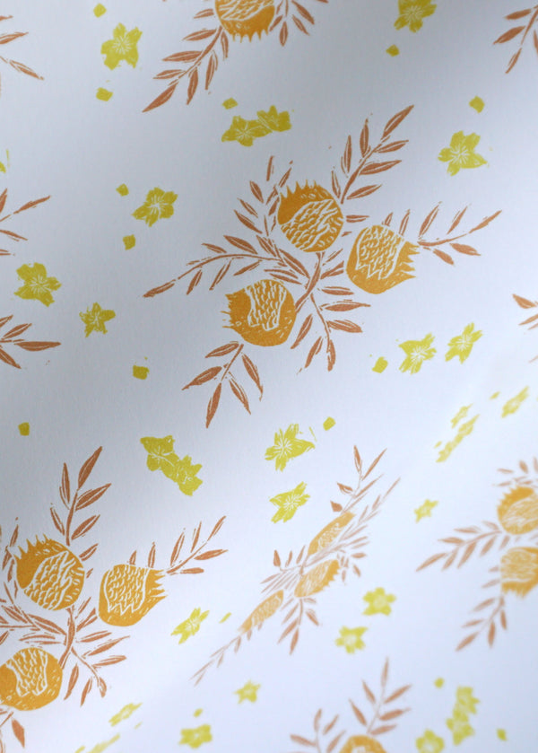 Pomegranate Wallpaper in Saffron