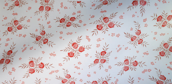Pomegranate Wallpaper in Strawberry