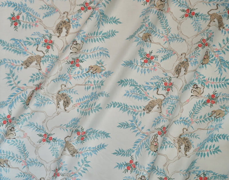Monkey and Tiger Fabric in Day