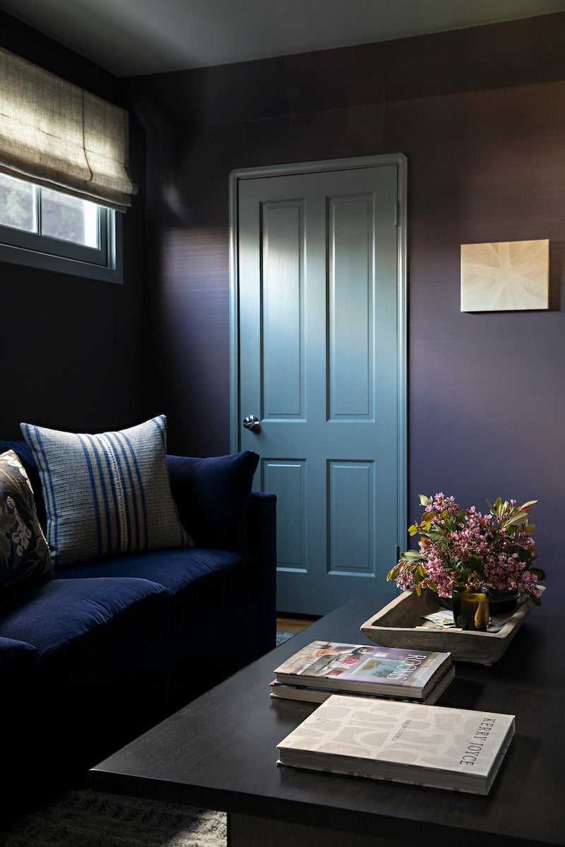 Painted Strie in Eggplant, Interiors by Lucas Studio Inc, Photo by Karyn Millet