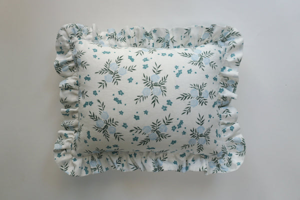 Ruffle Lumbar Pillow Pomegranate Blueberry