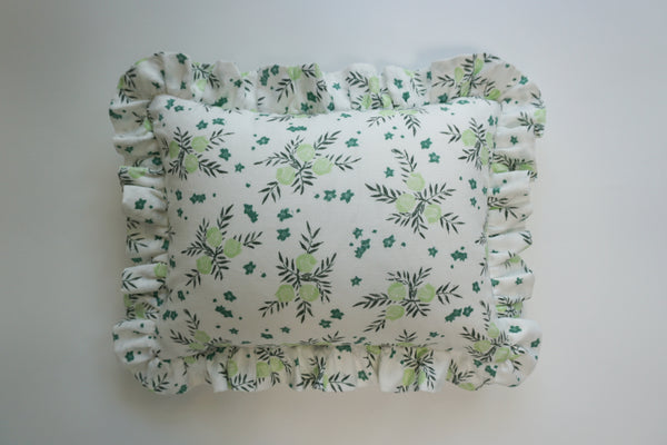Ruffle Lumbar Pillow Pomegranate Celery