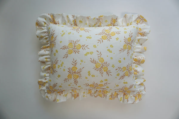 Ruffle Lumbar Pillow Pomegranate Saffron