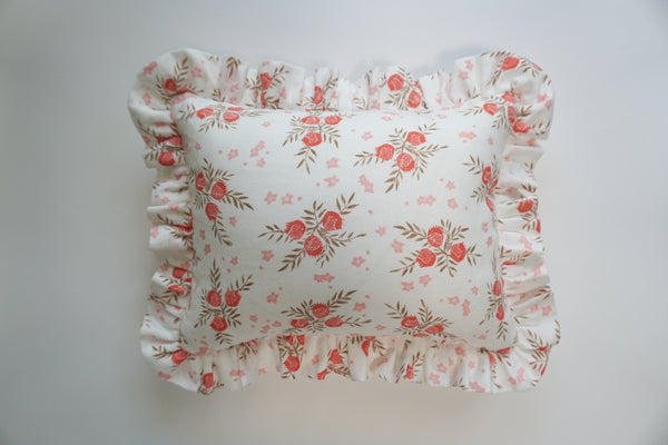 Ruffle Lumbar Pillow Pomegranate Strawberry