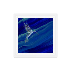 Hummingbird in Lapis Print