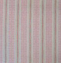 Block Print Stripe Fabric in Strawberry
