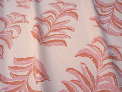 Banana Leaf Fabric in Coral Pink