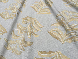 Banana Leaf Fabric in French Grey